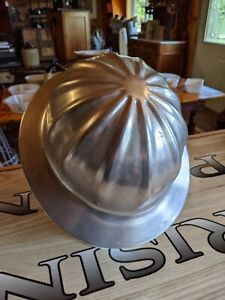 Vintage Superlite Aluminum Hard Hat By Fibre Metal Usa Oil Rig Roughneck