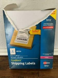 Avery 5912 True Block 5 5 X 8 5 White Shipping Labels 250 Sheets 500 Labels
