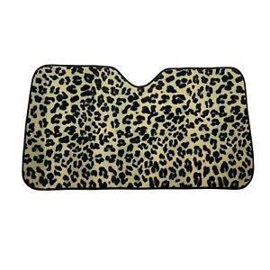 New Brown Leopard Front Windshield Sun Shade Accordion 57 X 27