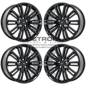 21 Land Rover Discovery Gloss Black Exchange Wheels Rims Factory Oem 72292 2