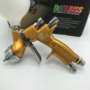 Devilbiss Gti Pro Lite Gold Car Paint Tool Pistol Spray Gun Te20 1 3mm