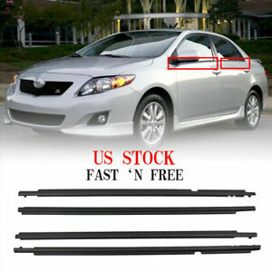 Bl Car Window Weatherstrip Moulding Trim For Toyota Corolla 2009 2012 2010 2011