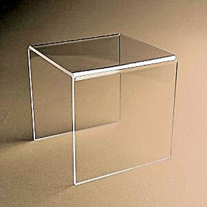 20 Clear Acrylic Plastic Risers Display Stand Pedestal 3 X 3 X 3