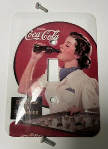 Vintage Coca Cola Light Switch Cover ~ Complete w/ Matching Screws