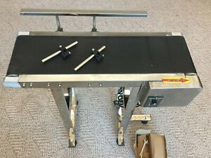Mini Conveyor Variable Speed With Stand 7 5 8 X 28 1 2 5 100 Fpm