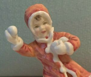Royal Worcester Snowball Figurine By F G Doughty 1982 Bone China England