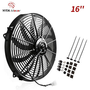 Yitamotor 16 Inch Cooling Fan Kit 120w 3000cfm Push Pull Electric Slim Curved