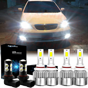 For Toyota Corolla 2005 2006 2007 2008 Led Headlight High Low Fog Light Bulb