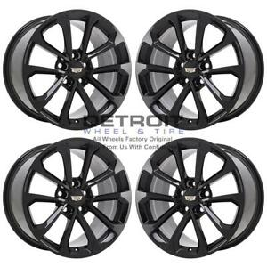 19 Cadillac Cts v Gloss Black Exchange Wheels Rims Factory Oem 4752 2016 2019