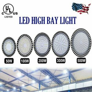 Ufo Led High Bay Light Factory Warehouse Gym Shop Lamp 100w 200w 300w Floodlight