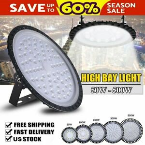 4 Pack Ufo Led High Bay Light Factory Warehouse Gym Shop Lamp 50 500w Floodlight