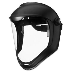 Uvex By Honeywell Bionic Face Shield Matte Black Frame Clear Lens S8500