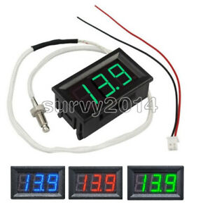 12v Digital Thermometer Temperature Meter K type M6 Thermocouple Tester