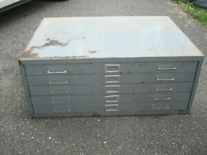 Map Blueprint Paper Cabinet 5 Drawer 40 W X 29 5 D X 16 H Hardware Tools