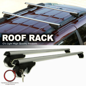 Rooftop Rack Cross Bars 48 Rail Mount Luggage Aluminum Cargo Carrier Fit Jeep