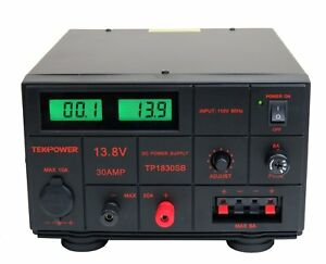Tekpower Tp1830sb Dc Adjustable Dc Power Supply 1 5 15v 30a With Digital Display