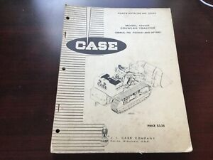 Case 1000d Crawler Tractor Parts Book Catalog Serial No 7103001 And After