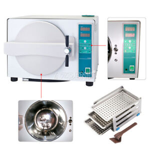18l Dental Steam Sterilizer Sterilization Automatic With Drying Function New