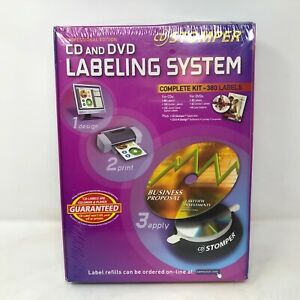 Stomper Professional Edition Cd And Dvd Labeling System Complete Kit 380 Labels