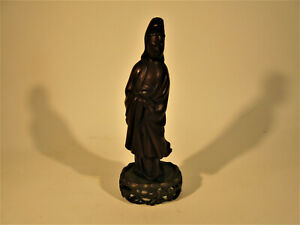 Carved Wooden Quan Yin Chinese Goddess Statue