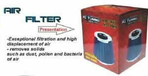 Air Filter Universal 3 Inches 76mm Car High Performance Racing Blue Color