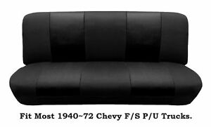 Black Mesh Bench Seat Cover Fit Most 1940 72 Chevy Full Size Trucks Models