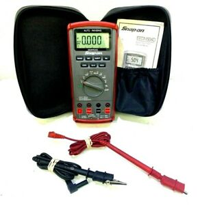 Snap on Eedm504d Auto range Digital Multimeter W cover Case And Cords Works