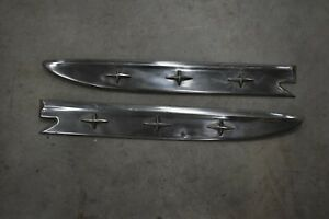 1952 Pontiac Star Chief Left And Right Front Fender Star Spears Original