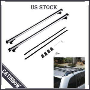 48 Universal Car Roof Rack Cross Bar Top Cargo Luggage Carrier Rail Suv Wagon