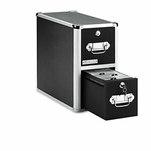 Ideastream Vaultz Locking Cd File Cabinet 2 Drawers 8 X 14 5 X 15 Black