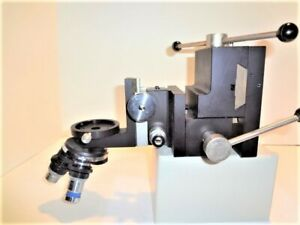 Microscope Probe Inspection Station Positioning Fixture 3 Axis And Focus Block