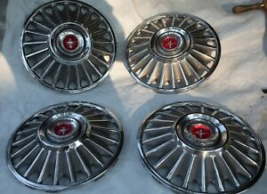 Ford 1966 1967 Mustang Hub Caps Hubcaps Set Of 4 14 s4l Very Good