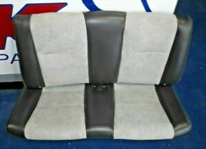 2003 2004 Ford Mustang Cobra Convertible Rear Seat Suede Midnight Black Leather