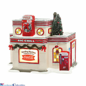 Dept 56 Snow Village Coca Cola Big Chill Supply & Service 4044861 Retired