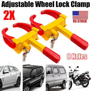 2pcs Wheel Lock Clamp Boot Tire Claw Trailer Car Truck Anti Theft Towing Outdoor
