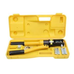 New 12ton Hydraulic Wire Battery Cable Lug Terminal Crimper Crimping Tool 8 Dies