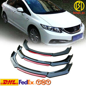 Front Bumper Lip Splitter For 2013 2015 2014 9th Honda Civic Sedan Si Dhl Tnt