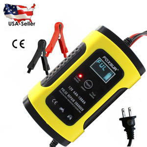 Smart Automatic Car Battery Charger 12 5a Touch Screen Pulse Repair Agm Gel Us