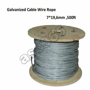 Stainless Steel Cable Wire Rope Grade 7x19 Wire Rope 6mm152m Durable Premium Us