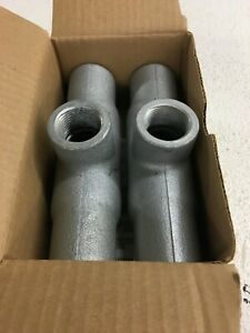 Crouse Hinds Tb37 Condulet 1 Electrical Conduit Outlet Body Fitting lot Of 2