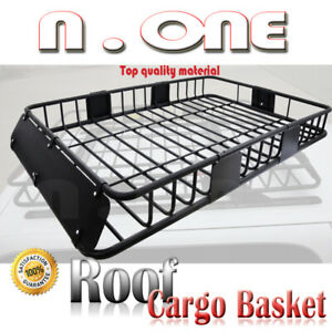 Universal Rooftop Rack Luggage Extension Basket Cargo Carrier Storage For Jeep
