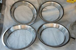 Ford Mercury Beauty Rings Hubcaps Set Of 4 Stainless Steel S4l Excellent 1973
