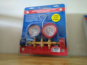 Imperial 421 cc Refrigeration And Hvac Mechanical Guages W 60 Hoses 2 valve