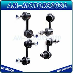 4pcs Sway Bar Link For 2001 2004 2005 Honda Civic Coupe Front Rear Stabilizer