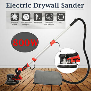 800w Electric Drywall Sander With Vacuum 6 Speed Adjustments And 360 Led Light
