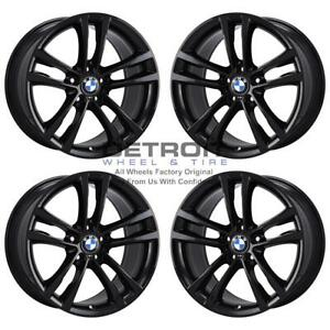 19 Bmw 328i Gloss Black Exchange Wheels Rims Factory Oem 86025 2014 2018