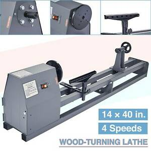 Electric Wood Lathe 14 X 40 350w Variable Speed Stationary Benchtop Wood Lathe