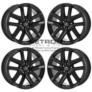 19 Lexus Gs Turbo Gloss Black Exchange Wheels Rims Factory Oem 74347 2017 2017