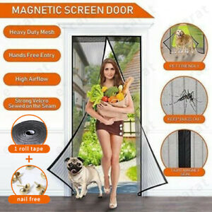 Magnetic Screen Door Mesh Hands free Net Mosquito Fly Insect Bug Curtain Closer