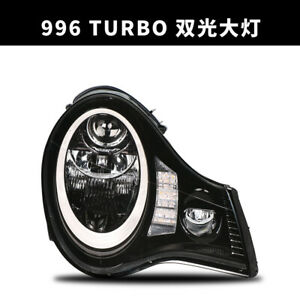 Led Headlights For Porsche 996 Turbo Front Lamps Fit Hid Xenon Version Black Sn